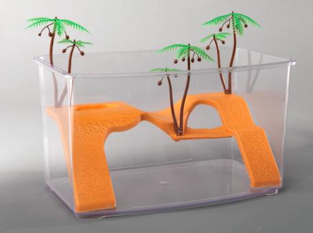 Tartarughiera ninja in plastica 32 cm acquario rettili for Acquario x tartarughe